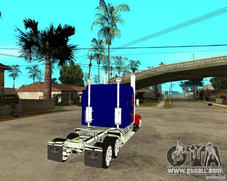 Truck Optimus Prime for GTA San Andreas back left view