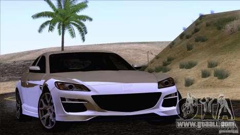 Mazda RX8 R3 2011 for GTA San Andreas back view