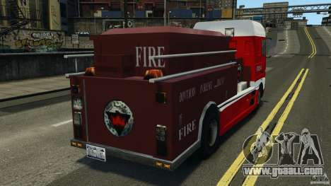 DAF XF Firetruck for GTA 4 back left view