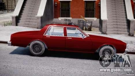 Chevrolet Impala 1983 v2.0 for GTA 4 inner view
