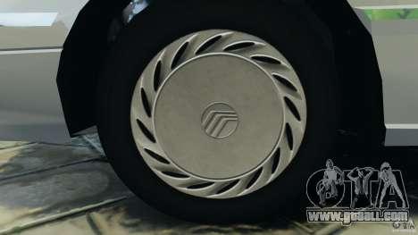 Mercury Tracer 1993 v1.1 for GTA 4 back view