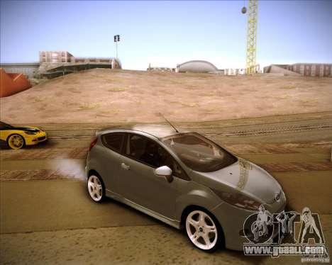 Ford Fiesta Zetec S 2010 for GTA San Andreas