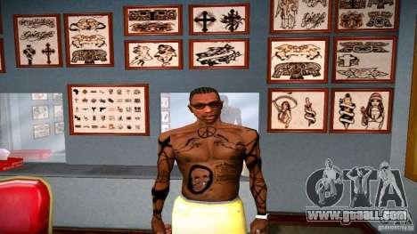 Three new tattoo for GTA San Andreas ninth screenshot
