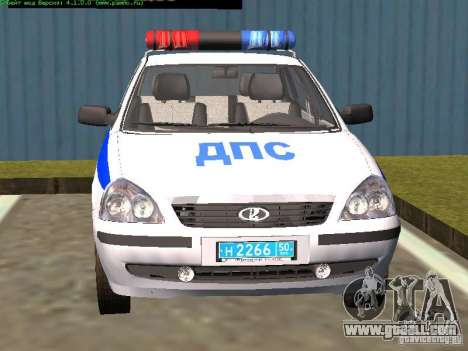 LADA 2170 Police for GTA San Andreas right view