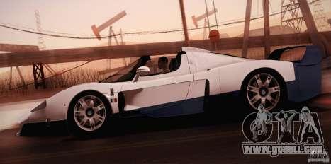 Maserati MC12 V1.0 for GTA San Andreas engine
