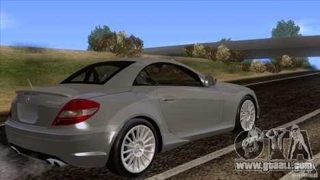 Mercedes-Benz SLK 55 AMG for GTA San Andreas left view