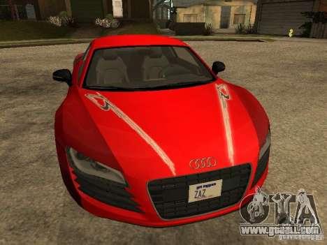 Audi R8 for GTA San Andreas bottom view