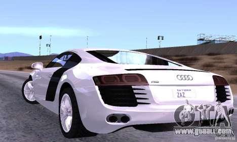 Audi R8 4.2 FSI for GTA San Andreas back left view