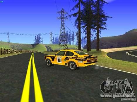 Opel Kadett for GTA San Andreas inner view