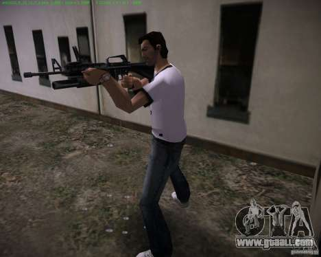 M-16 from Scarface for GTA Vice City second screenshot