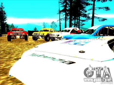 Toyota Tundra Rally for GTA San Andreas interior