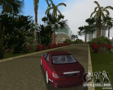 Maybach 57 for GTA Vice City right view