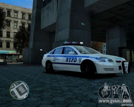 NYPD Chevrolet Impala 2006 [ELS] for GTA 4 left view