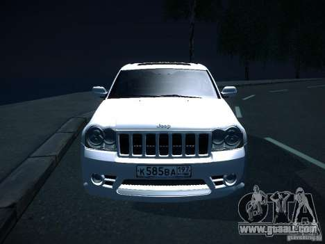 Jeep Grand Cherokee SRT8 for GTA San Andreas right view