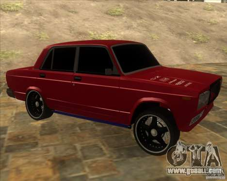 VAZ 2107 hard tuning for GTA San Andreas