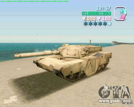 M 1 A2 Abrams for GTA Vice City second screenshot