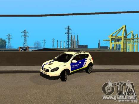 Nissan Qashqai Espaqna Police for GTA San Andreas left view