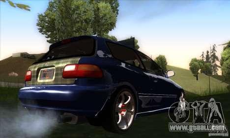 Honda Civic EG5 for GTA San Andreas right view