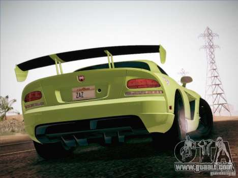 Dodge Viper SRT-10 ACR for GTA San Andreas bottom view