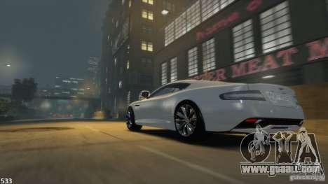 Aston Martin Virage 2012 v1.0 for GTA 4 back left view