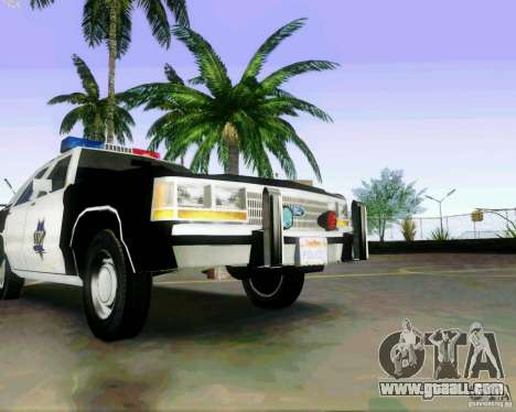 Ford Crown Victoria LTD 1991 SFPD for GTA San Andreas inner view