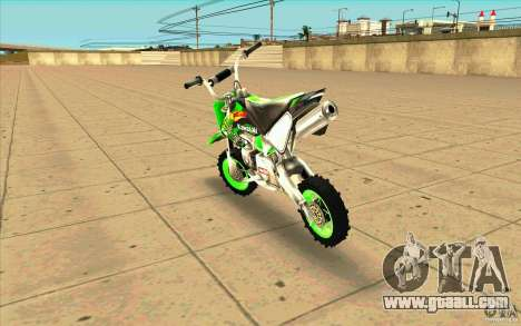 Kawasaki PitBike for GTA San Andreas back left view
