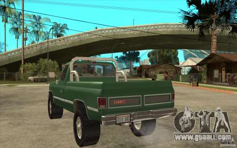 GMC Sierra 1986 for GTA San Andreas left view