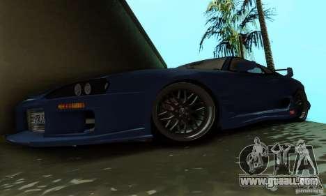 Toyota Supra TRD for GTA San Andreas inner view