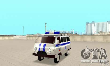 UAZ Police for GTA San Andreas left view