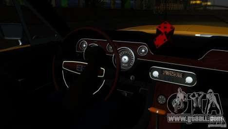 Shelby GT500KR for GTA San Andreas interior