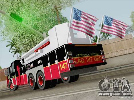 Seagrave Marauder II. SFFD Ladder 147 for GTA San Andreas right view