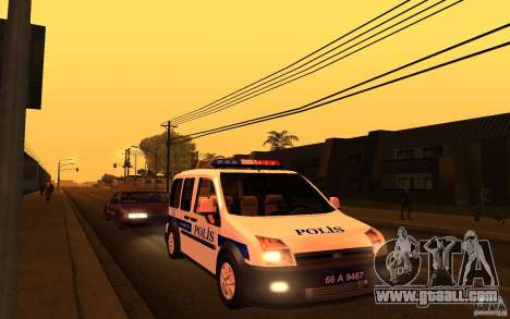Ford Transit Connect Turkish Police for GTA San Andreas left view