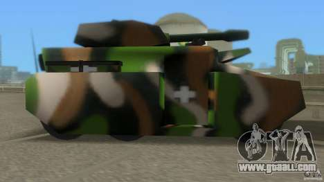 Bundeswehr-Panzer for GTA San Andreas back left view