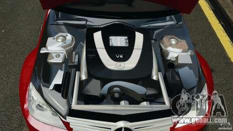 Mercedes-Benz C350 Avantgarde v2.0 for GTA 4 upper view