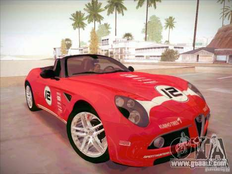 Alfa Romeo 8C Spider for GTA San Andreas back view