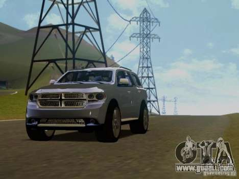 Dodge Durango 2012 for GTA San Andreas back view