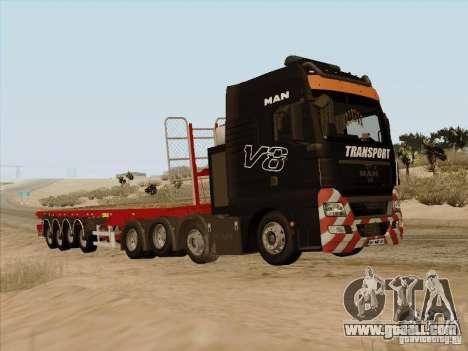 MAN TGX 8 x 4 trailer for GTA San Andreas right view