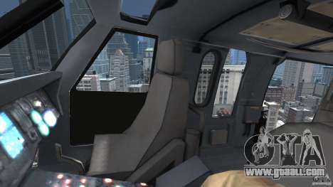 Sikorsky UH-60 Black Hawk for GTA 4 side view