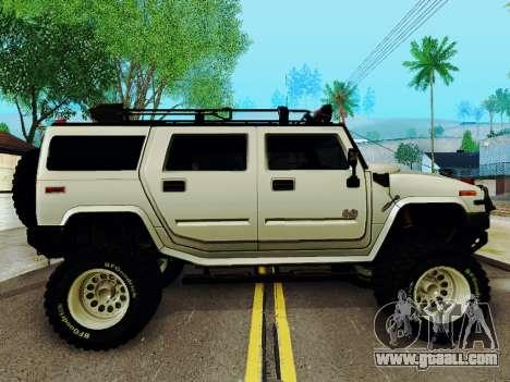 Hummer H2 Monster 4x4 for GTA San Andreas back left view
