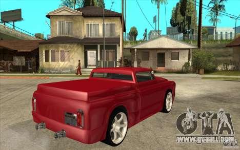 Slamvan Custom for GTA San Andreas right view