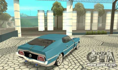 Ford Mustang Mach 1 1971 for GTA San Andreas side view