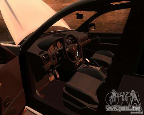 Porsche Cayenne Turbo S for GTA San Andreas inner view