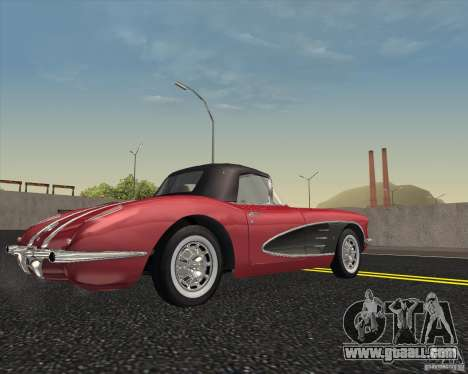 Chevrolet Corvette 1959 for GTA San Andreas right view