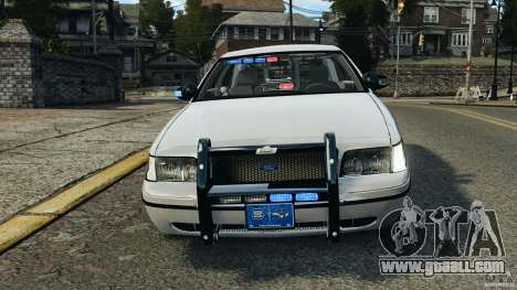 Ford Crown Victoria Police Unit [ELS] for GTA 4 upper view