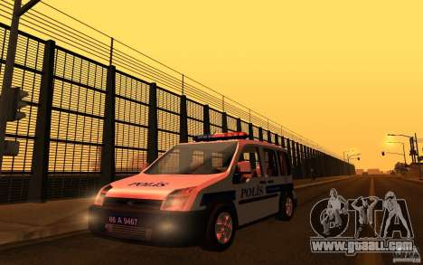 Ford Transit Connect Turkish Police for GTA San Andreas