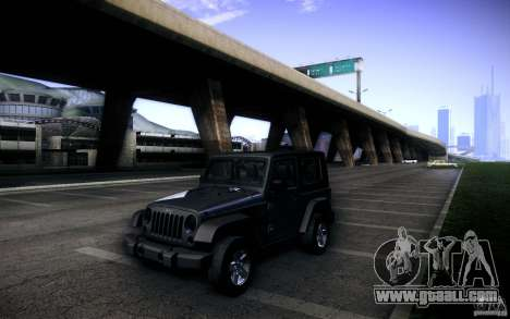 Jeep Wrangler Rubicon 2012 for GTA San Andreas side view