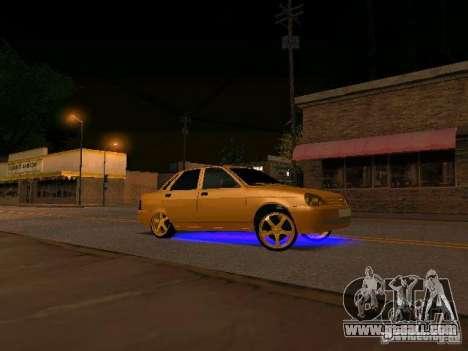 LADA 2170 Priora Gold Edition for GTA San Andreas