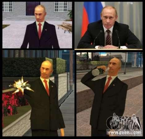 Vladimir Vladimirovich Putin for GTA San Andreas second screenshot