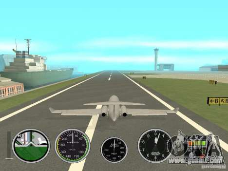 Air instruments in an airplane for GTA San Andreas