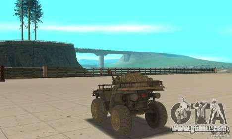 New Atv for GTA San Andreas back left view